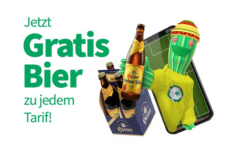 Jetzt gratis Bier zu jedem Tarif
