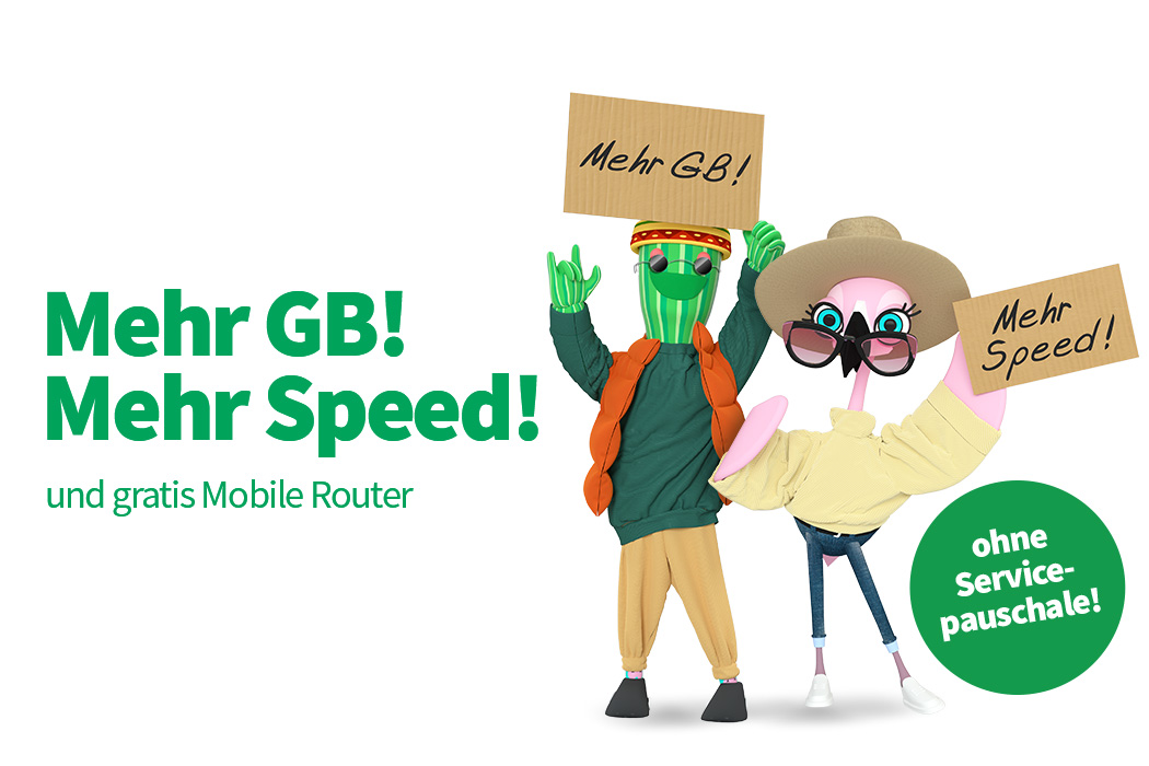 Mehr GB und gratis Router für besseres E-Learning