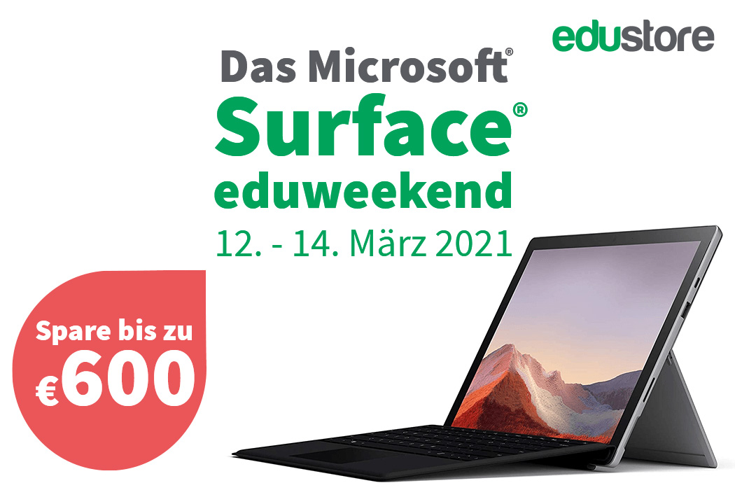 eduweekend Runde 2: Bis zu 660€ beim MS Surface Pro 7 sparen